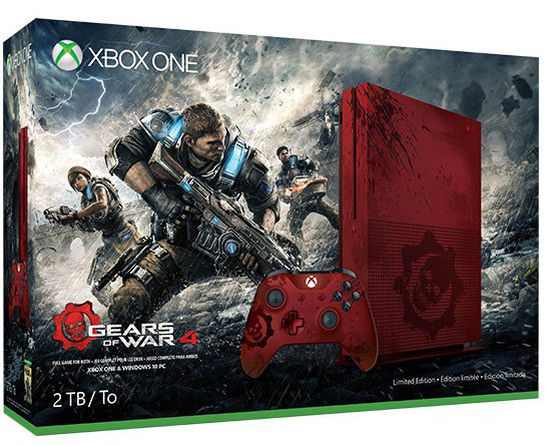 Une Xbox One S aux couleurs de GEARS OF WAR 4!