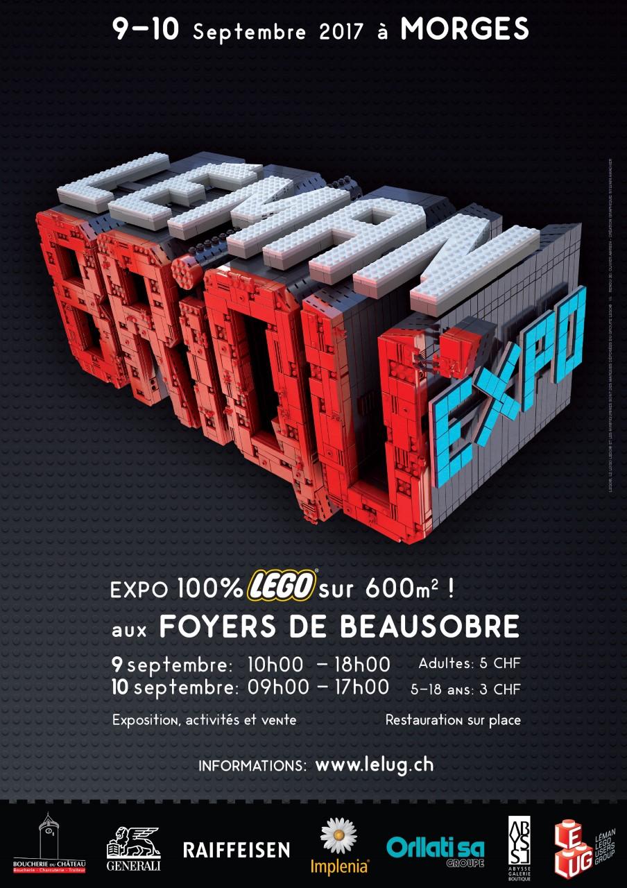 Le LUG s'installe à Morges pour la plus grande exposition de LEGO en suisse romande!!!