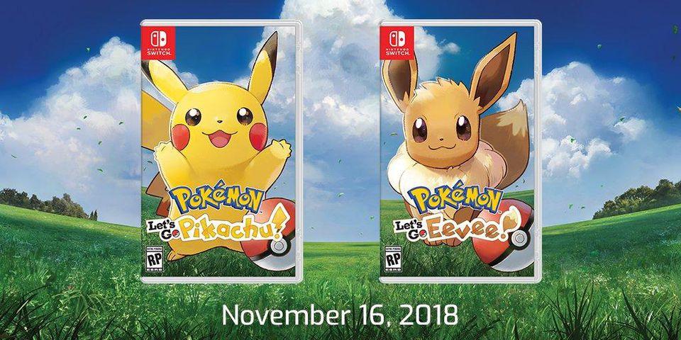 Pokémon Let's Go Pikachu/Evoli annoncé sur Switch!!!