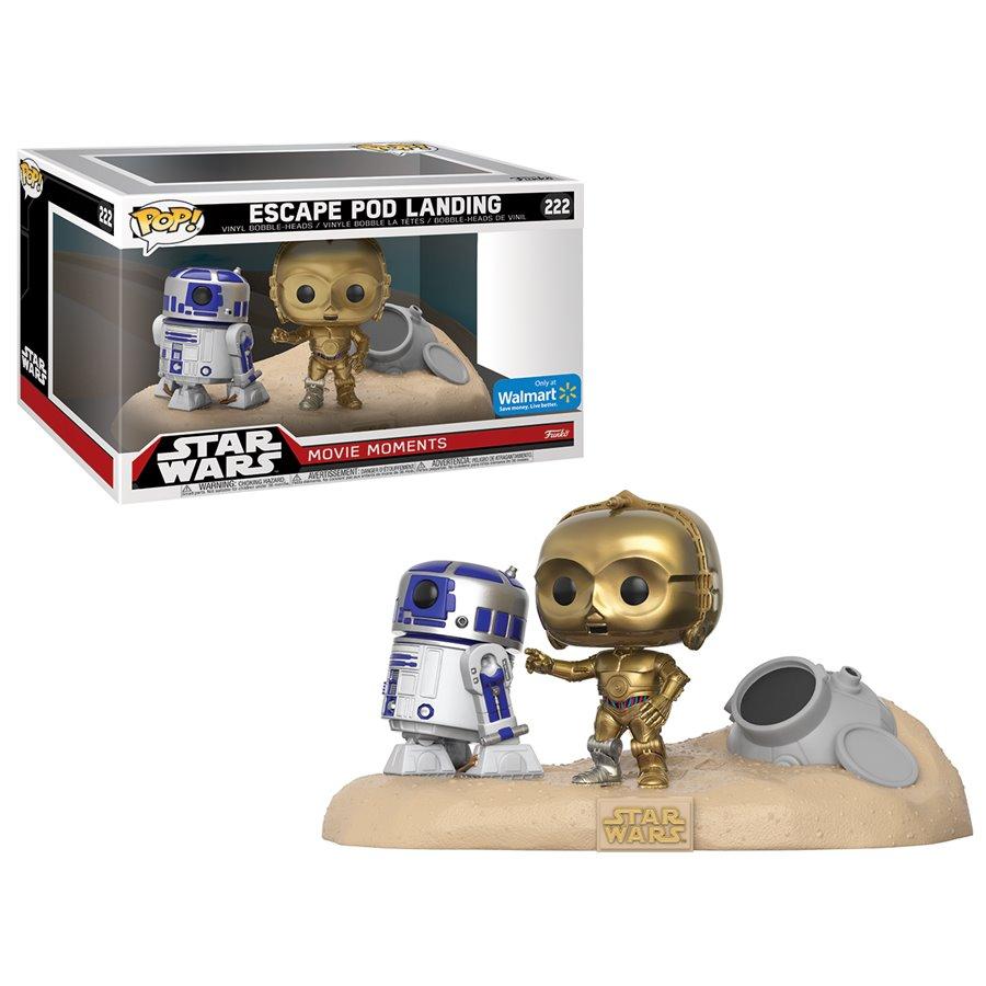 R2-D2 & C-3PO DESERT – STAR WARS MOVIE MOMENTS (222) – POP MOVIE (FIGURINES)