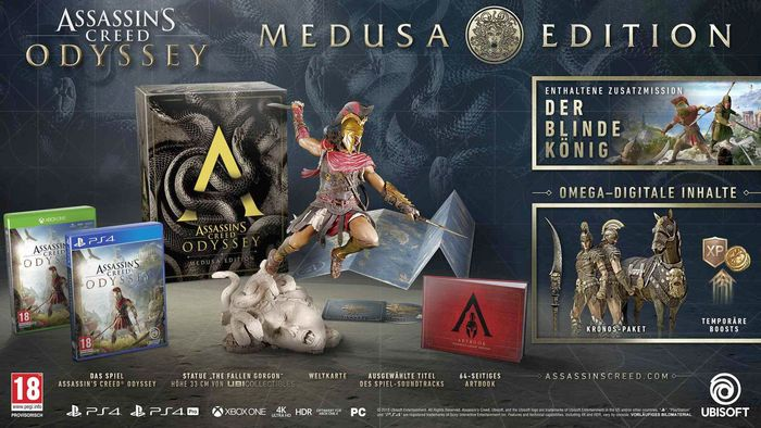 Assassin's Creed Odyssey – Medusa Edition Ps4 ou Xbox One