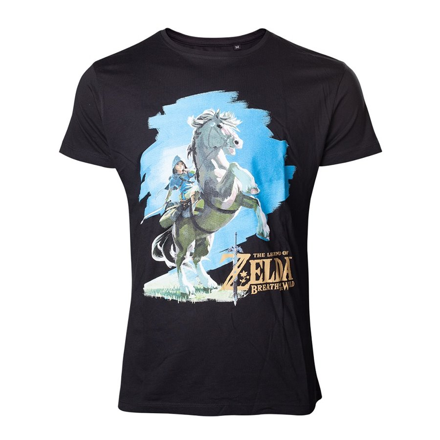 T-SHIRT – ZELDA – BREATH OF THE WILD – LINK HORSE – L