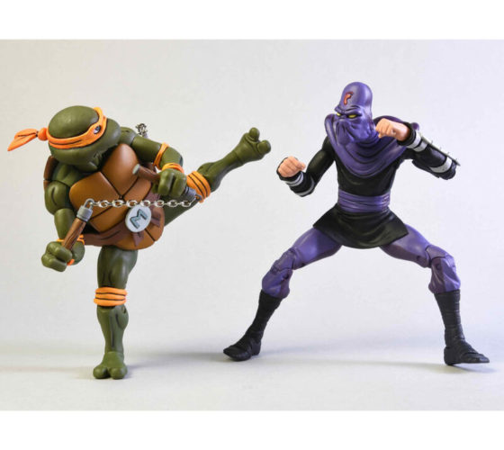 Pack 2 figurines Michelangelo y Foot Soldier Tortugas Ninja 18cm