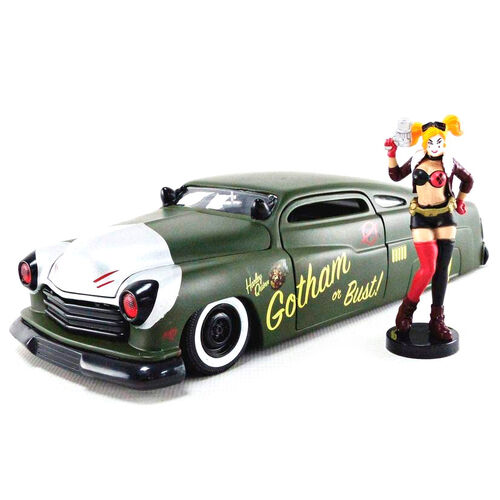 Set figurine & voiture en metal Mercury 1951 Harley Quinn DC Comics