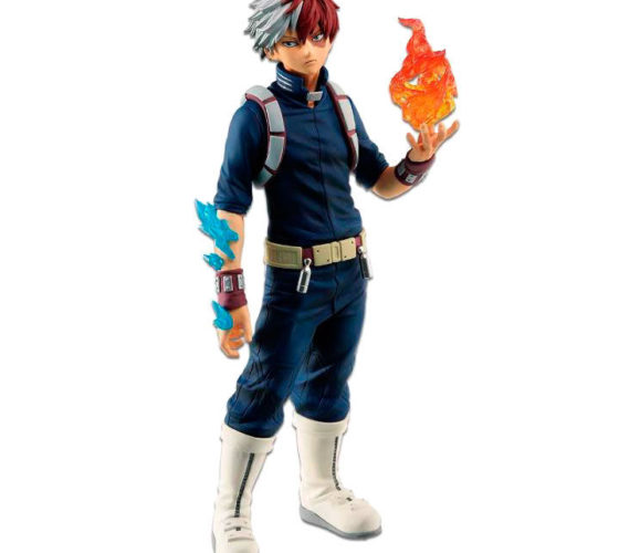 Figurine Shoto Todoroki Fighting Heroes feat Ones Justice My Hero Academia 25cm