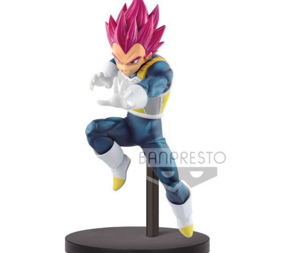 Figurine Super Saiyan God Vegeta Chosenshiretsuden II vol. 3 Dragon Ball Super 13cm