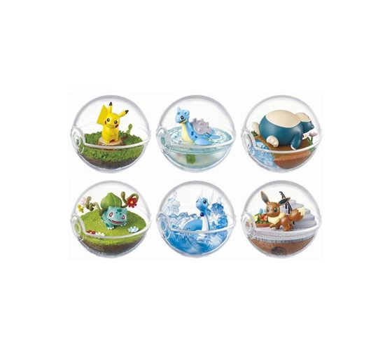 POKEMON – TERRARIUM COLLECTION 1 – (COLLECTION COMPLÈTE DE 6 FIGURINES)