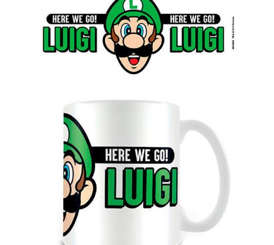 Mug Here We Go Luigi Super Mario Nintendo