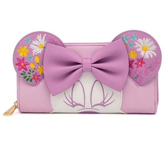 Porte monnaie Holding Flowers Minnie Disney Loungefly