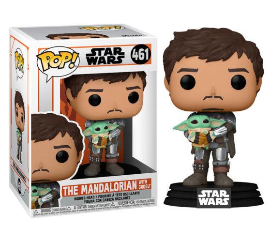 Figurine Funko POP Star Wars Mandalorian Mando Holding Child